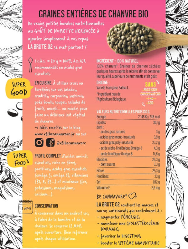 graines de chanvre entières V21