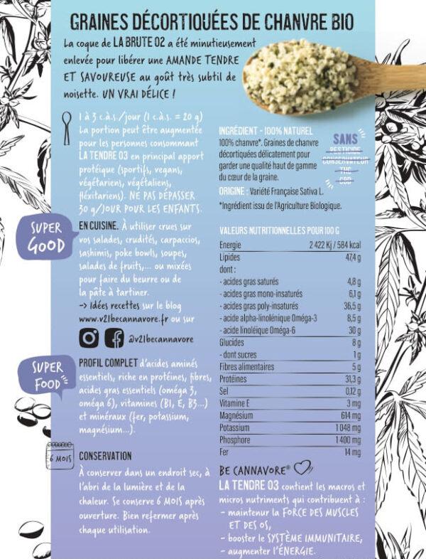 Graines de chanvre bio décortiquées v21