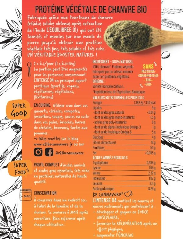 proteine vegetal de chanvre V21